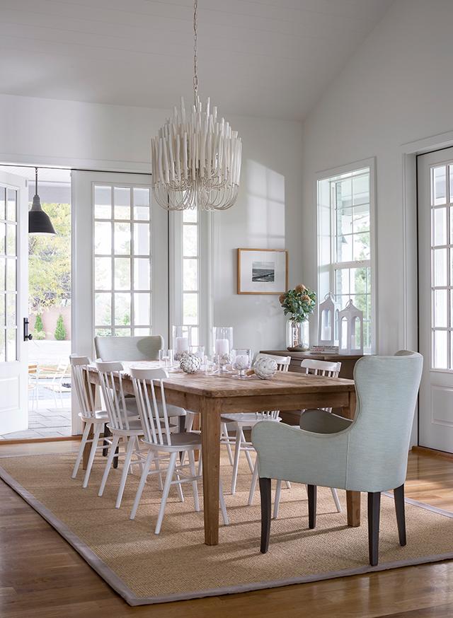 sala de jantar de transição elegante e gratuita