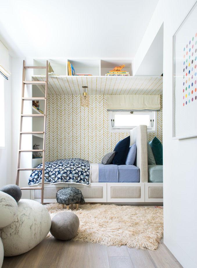 quarto dos miúdos para dois meninos idéia de design