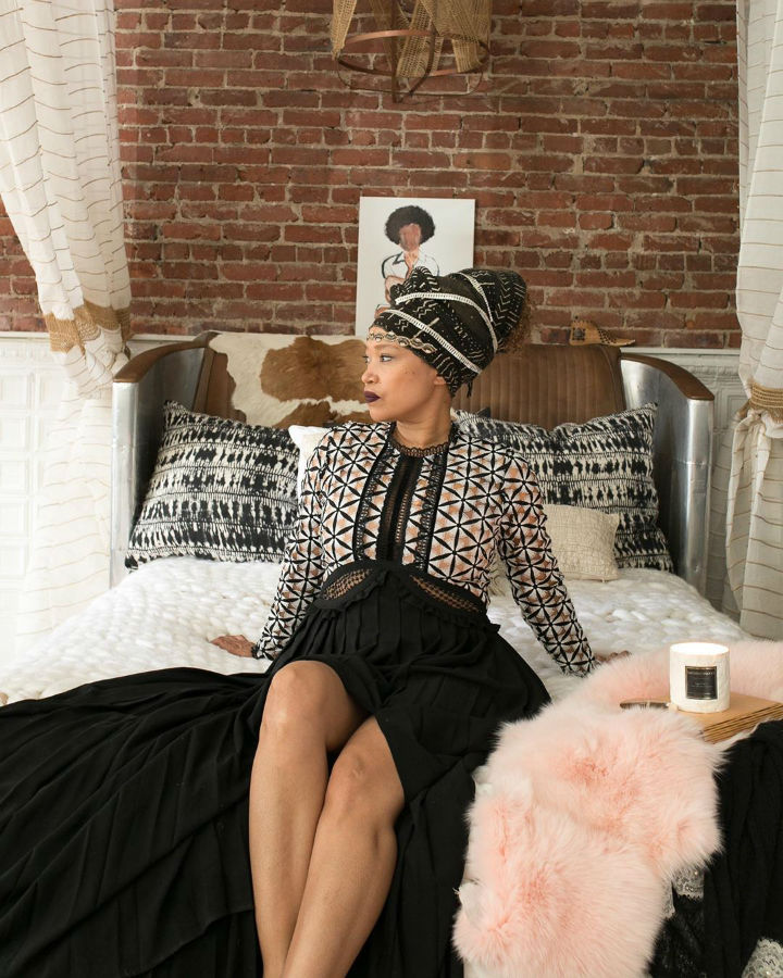 talented interior designer Bailey Li  in her amazing bedroom