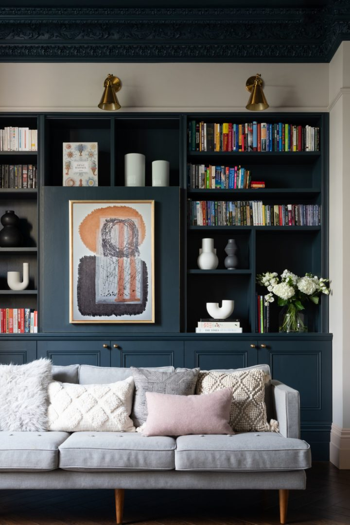 Classic Contemporary Home library interior design