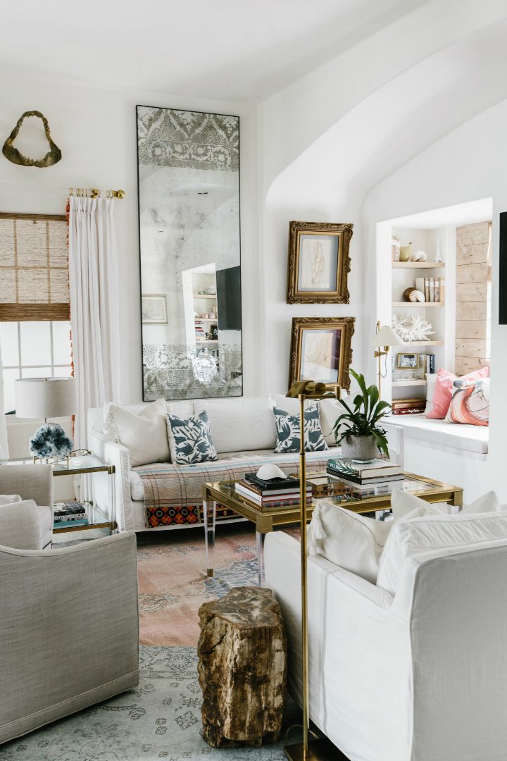 Interiors Inspired by Classic Italian Architecture and Black and White Hollywood Glamour Of The Past