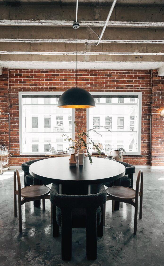 Modern Rustic Industrial dining room