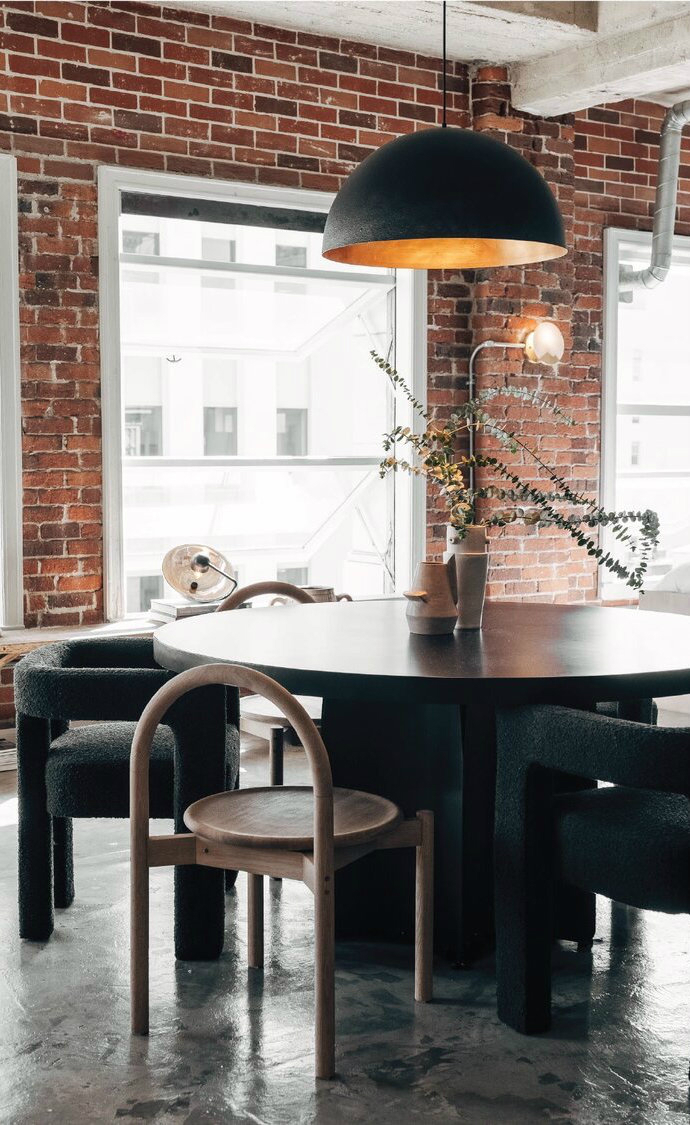 Modern Rustic Industrial dining room Decor