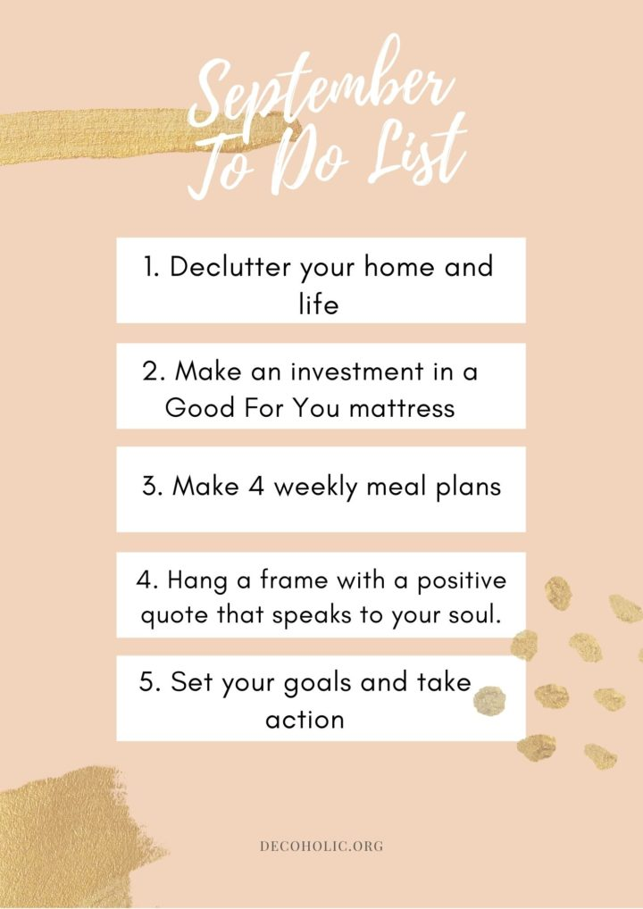 home September to do list