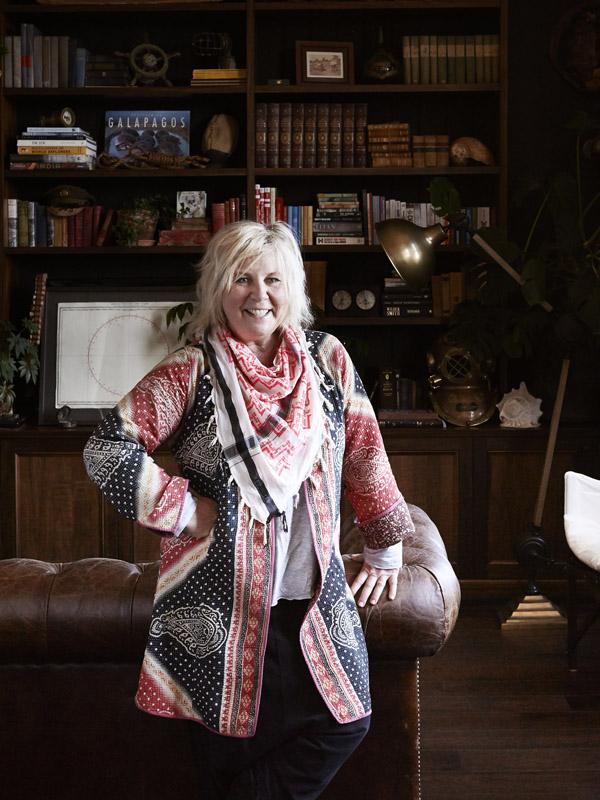 Vicki Wood in her vintage apartment