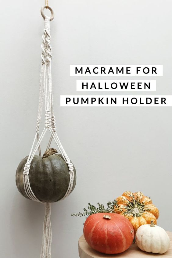 Macrame Pumpkin holder