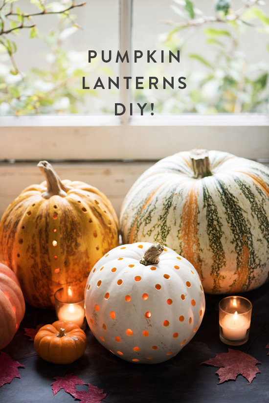 boho carving pumpkin lanterns
