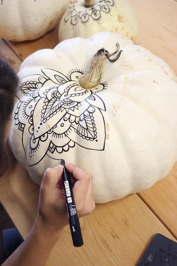 Henna boho Pumpkins DIY