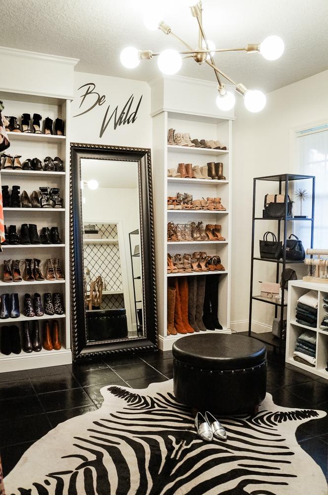 Ikea Billy Bookcase turned into a Shoe Closet