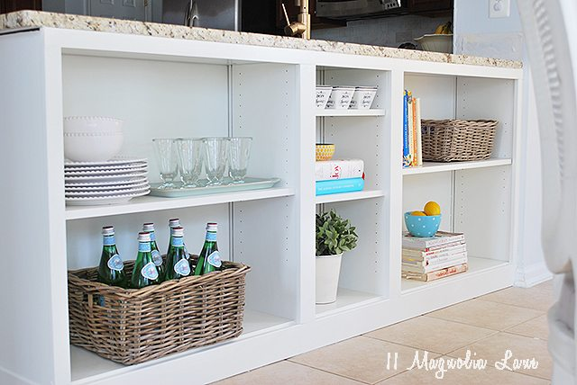 IKEA billy bookcase turned into kitchen island