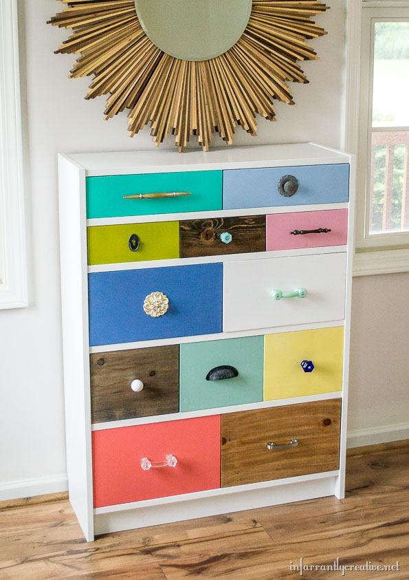 IKEA Billy bookcase to Dresser