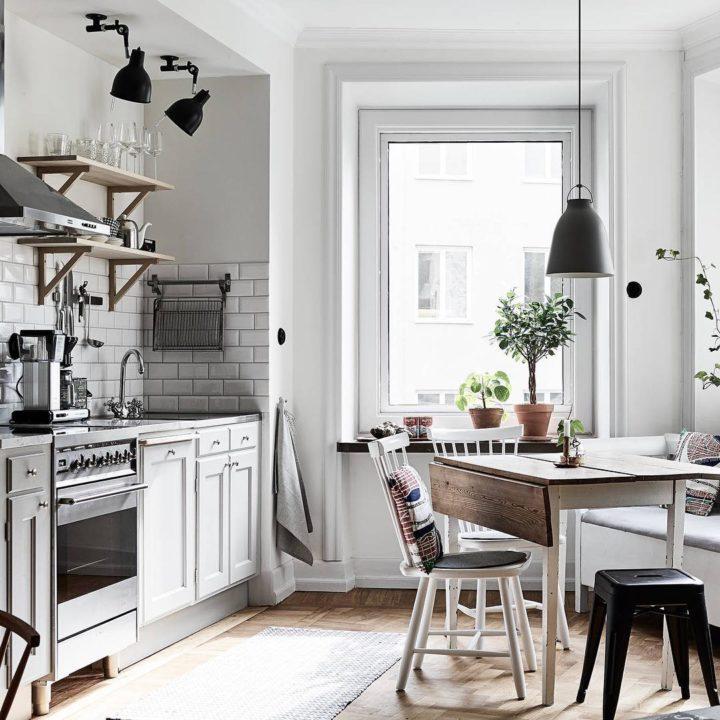 Ideias escandinavas para design de cozinhas pequenas, fornecidas pelos especialistas 75