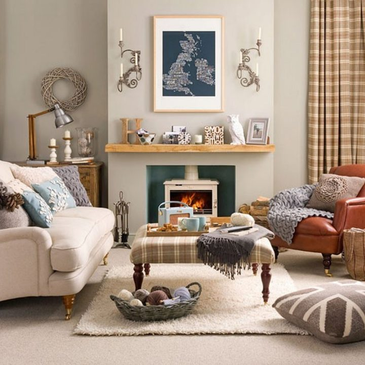 Small Living Room In Country Style, Living Room Decorating Ideas Country Style