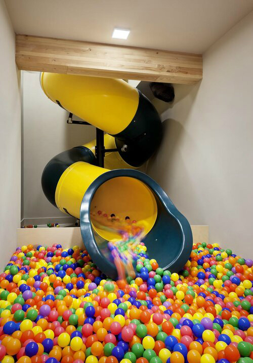 house with indoor Slide with Ball Pit