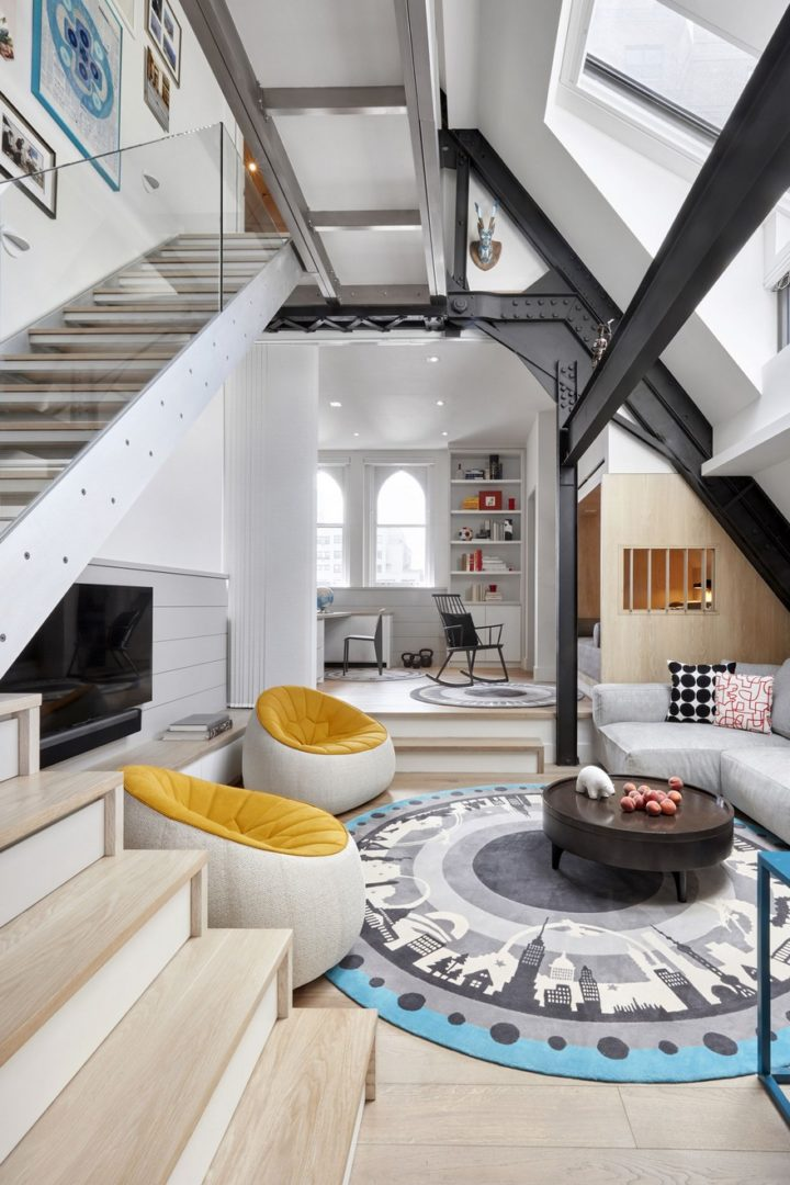 Contemporary Duplex Located At The Top Of An 1888 Former Parish House