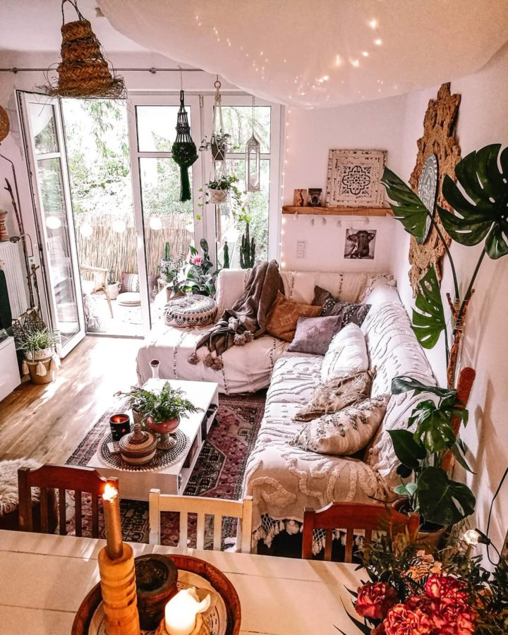 bohemian Moroccan living room idea