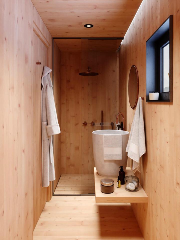 Cozy Minimalist Tiny Mountain Home 6