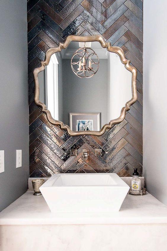 metalik banyo karoları tasarım fikri