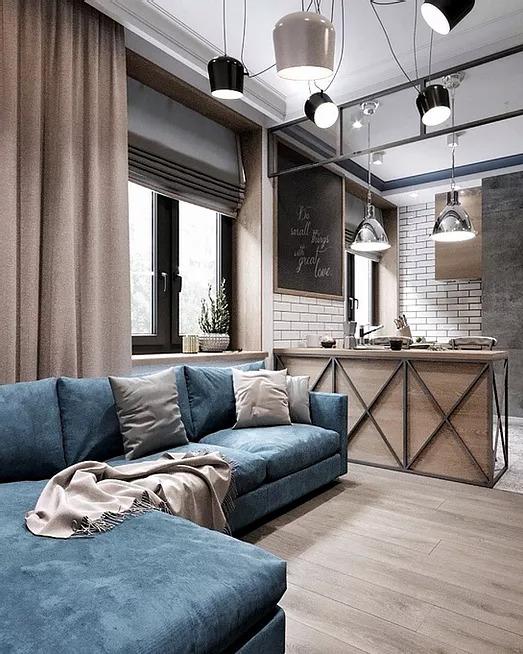 Industrial 89-Square-Foot Studio Apartment