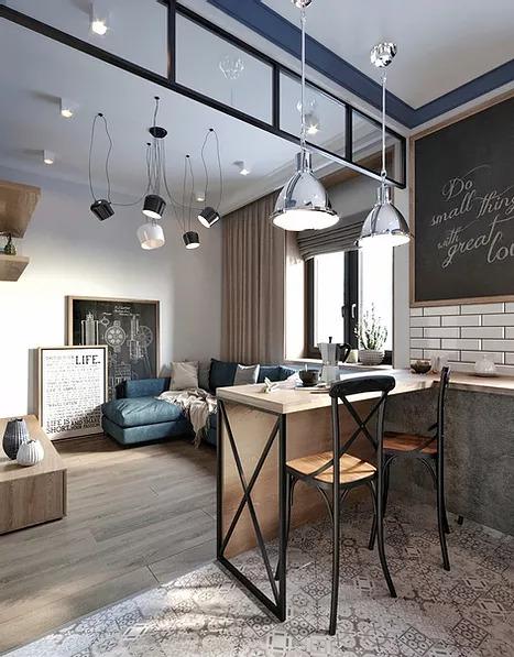Industrial 89-Square-Foot Studio Apartment 2