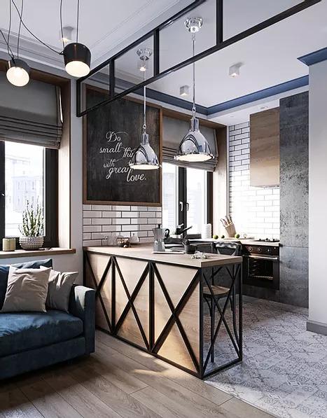 Industrial 89-Square-Foot Studio Apartment 3