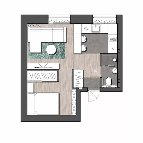 Industrial 89-Square-Foot Studio Apartment 6