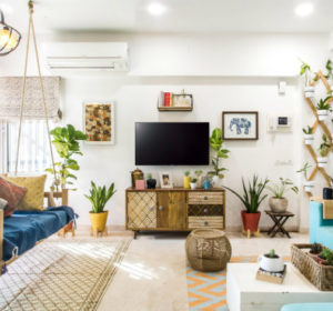 Urban Boho apartment decor