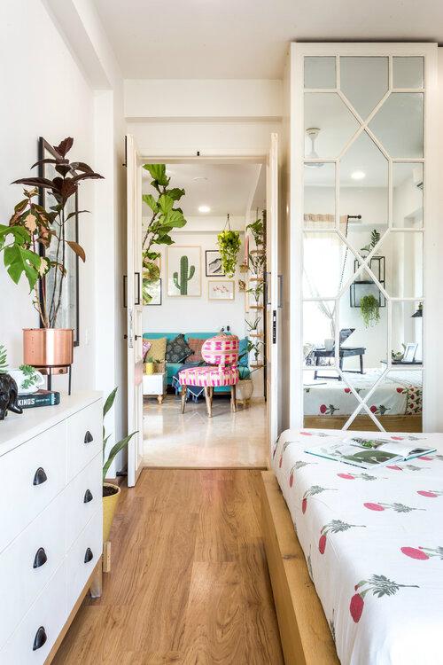 urban bohemian apartment decor idea