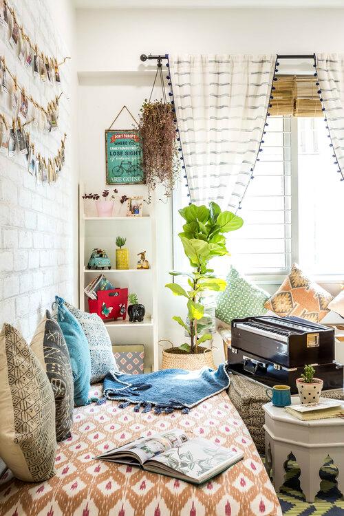 Urban Boho living room corner