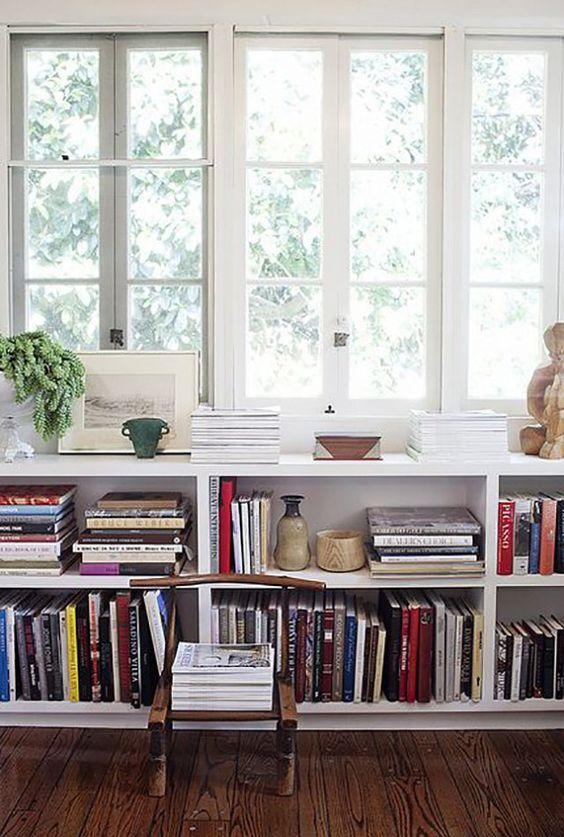 Low Bookshelf under window
