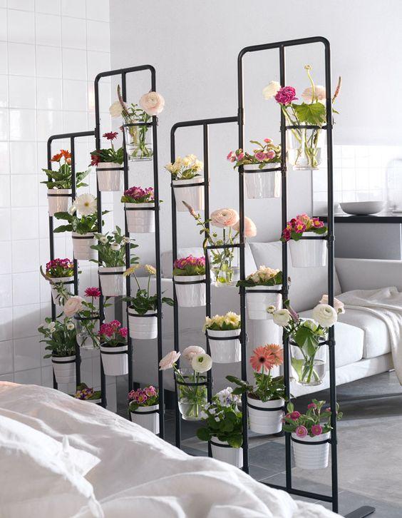 flowers room divider