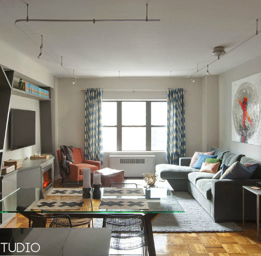 Masculine NYC One Bedroom Apartment