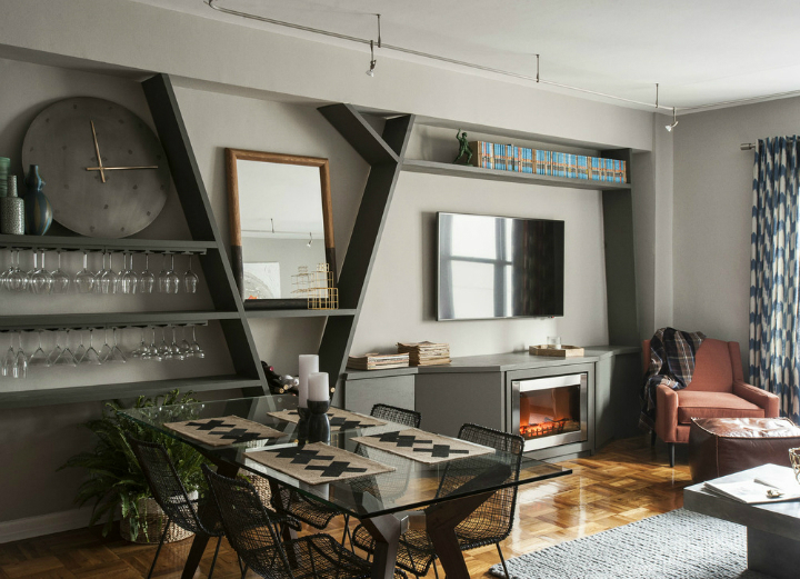Masculine NYC One Bedroom Apartment 3