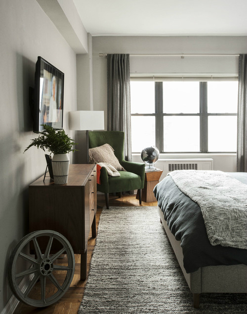 Masculine NYC One Bedroom Apartment 5