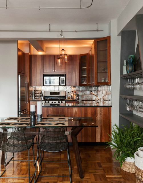 Masculine NYC One Bedroom Apartment 6