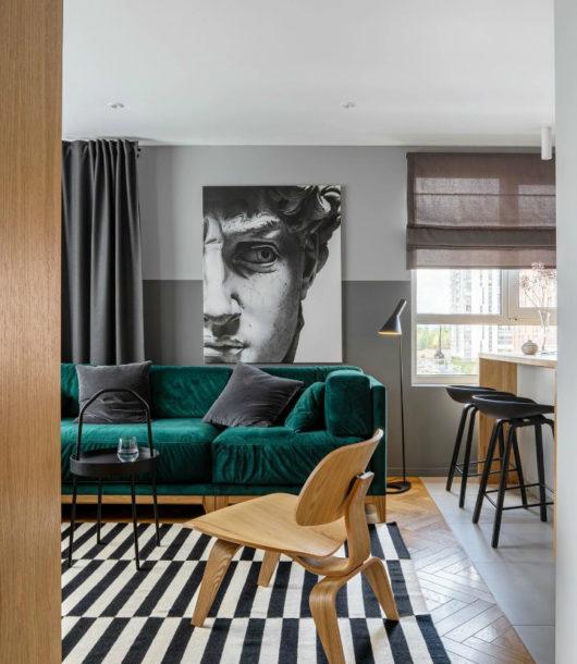 Impressive Stylish Small Apartment