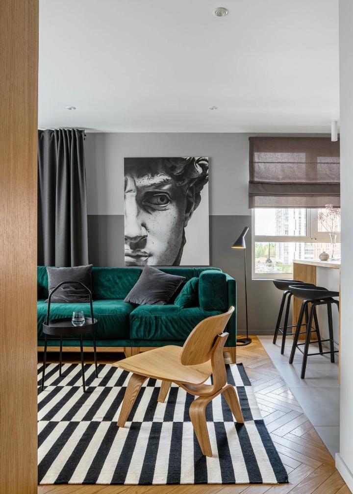 Inside An Impressive Stylish Small Apartment