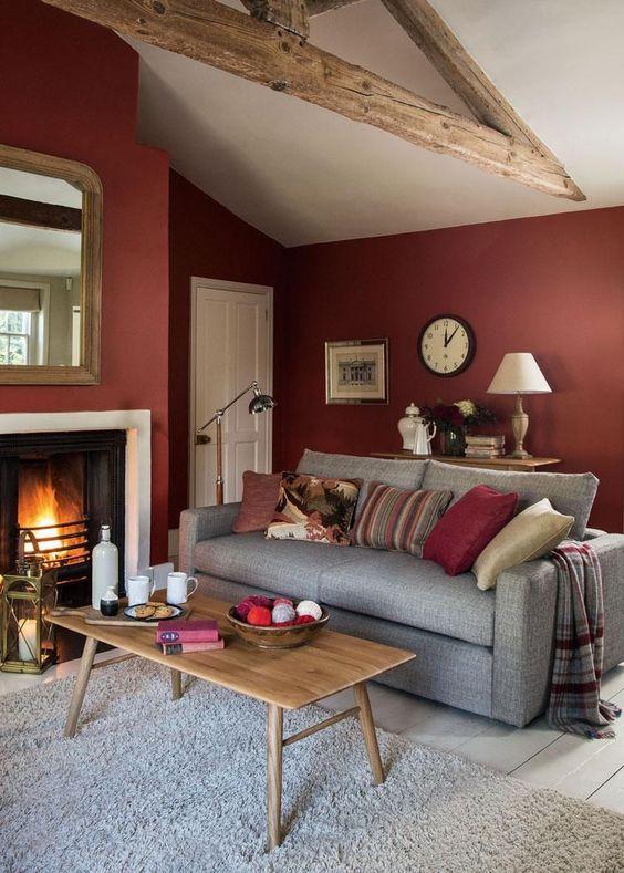 Grey And Burgundy Living Room Ideas Decoholic