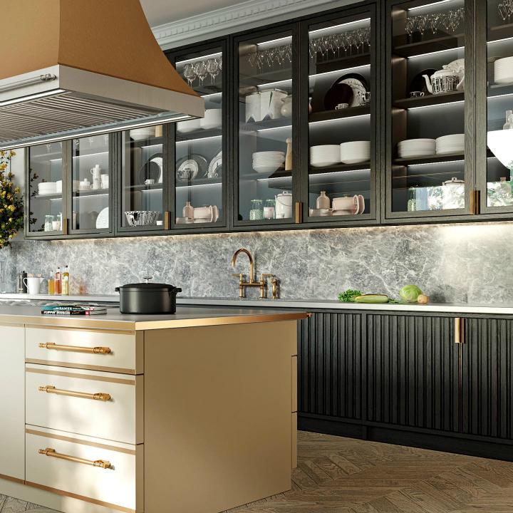 Parisian style kitchen design idea 11