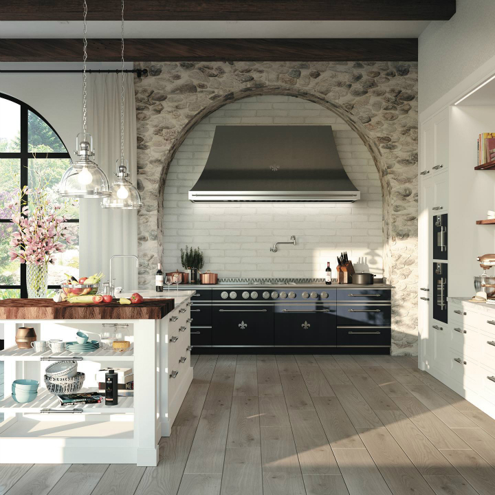 Parisian style kitchen design idea 17