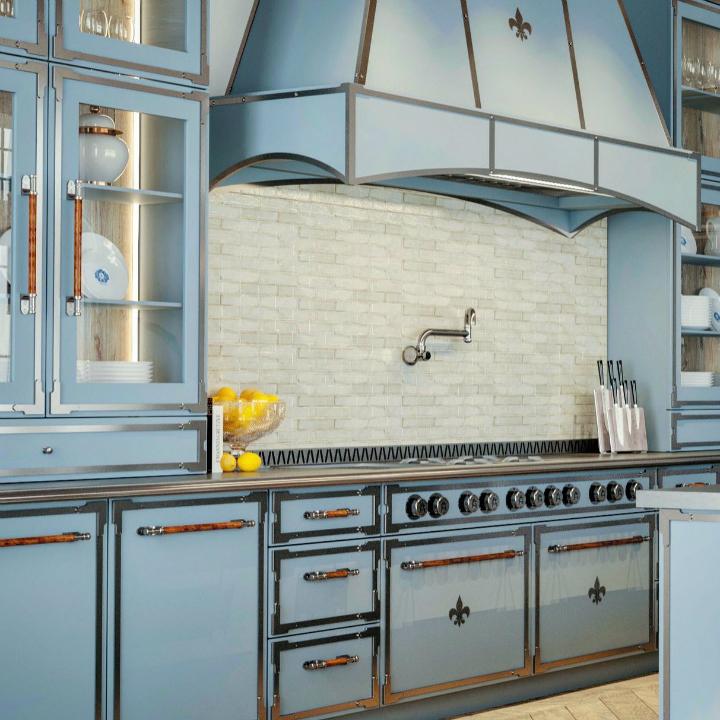 Parisian style kitchen design idea 18
