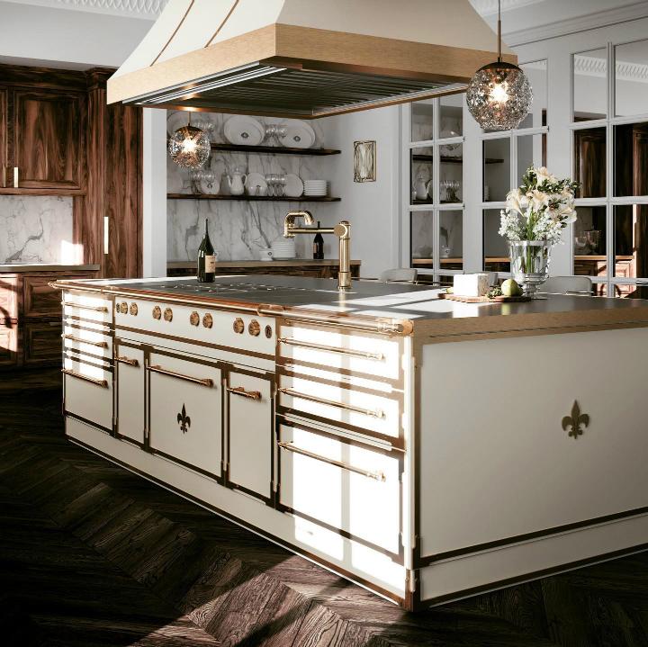 Parisian style kitchen design idea 21