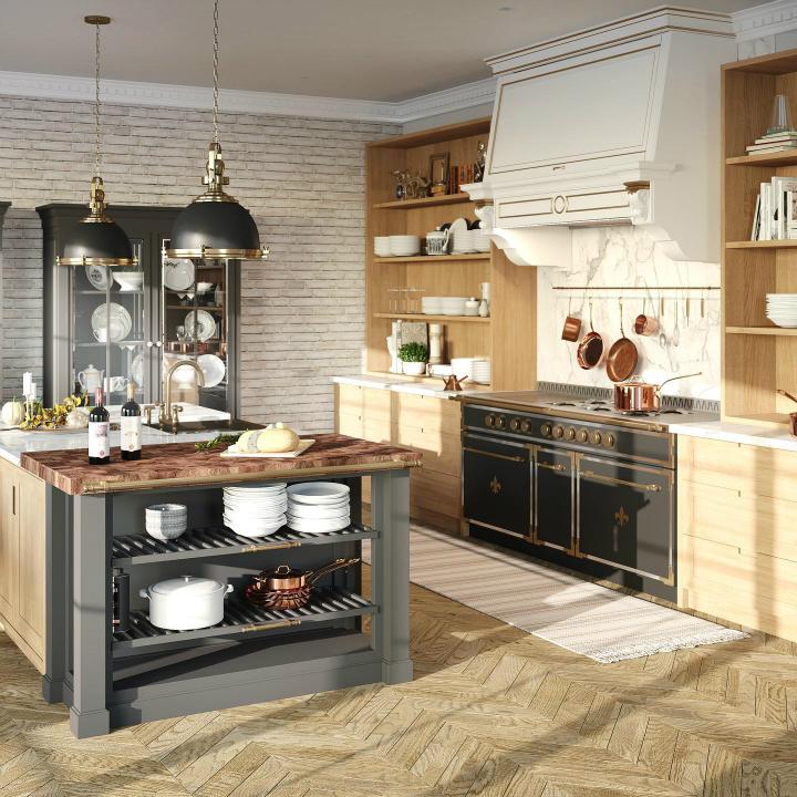 Parisian style kitchen design idea 6