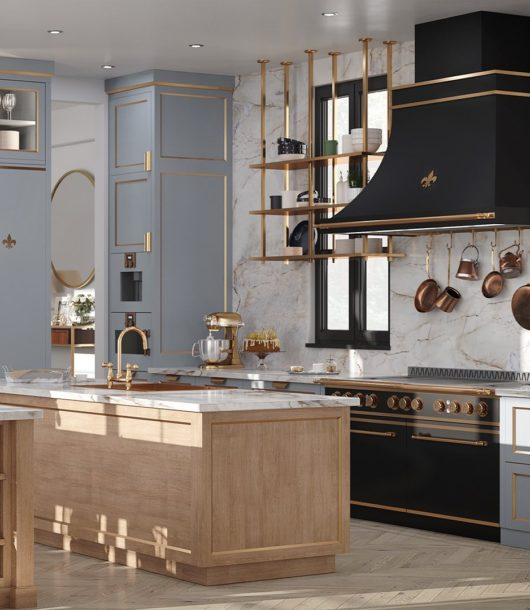 Parisian style kitchen design idea