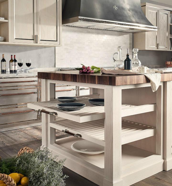 Parisian style kitchen design idea 9