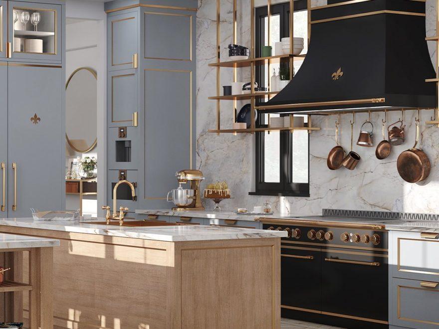 Parisian style kitchen design idea
