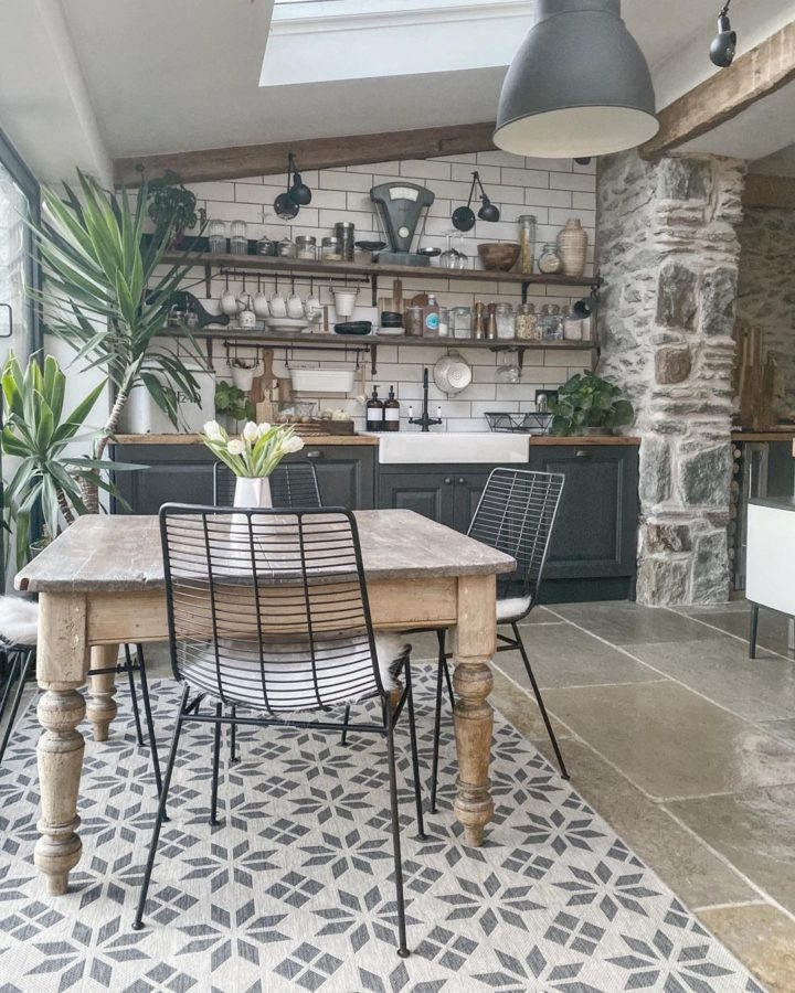 small modern country style kitchen