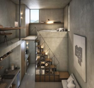 contemporary Tiny Loft design idea
