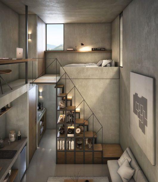 contemporary Tiny Loft design idea