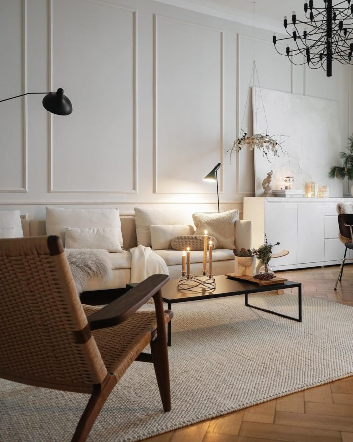 white serene french style living room